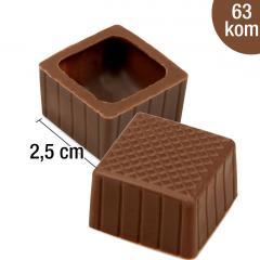 Praline mlečne kocke - čokoladke za nadaljno obdelavo, 63 kom