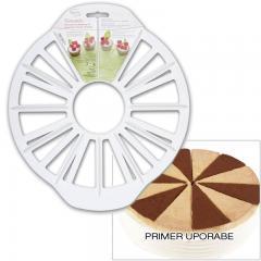 Razdelilnik - označevalec za razrez torte 12/16 kosov