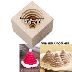 Model čebelji panj, polžek - 1 kom, bukov les