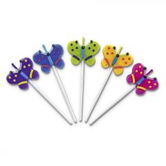 Svečke metuljčki, 5 kosov