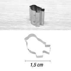 Mini modelček ptiček 1,5 cm, rostfrei