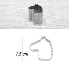 Mini modelček konjska glava 1,5 cm, rostfrei