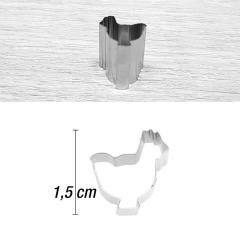 Mini modelček kokoška 1,5 cm, rostfrei