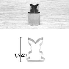 Mini modelček zajček 1,5 cm, rostfrei