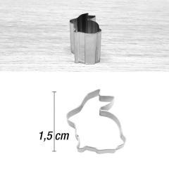 Mini modelček sedeči zajček 1,5 cm, rostfrei