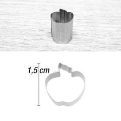 Mini modelček jabolko 1,5 cm, rostfrei