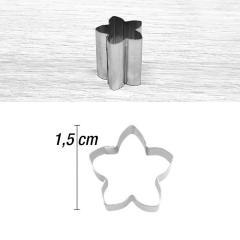 Mini modelček cvet 1,5 cm, rostfrei