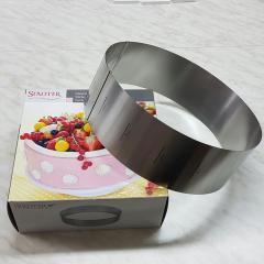 Nastavljiv obroč za peko OKROGEL - višina 10cm, rostfrei