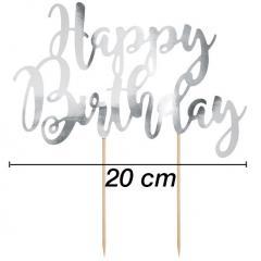 Topper za torto Happy Birthday št.6