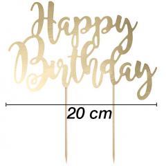 Topper za torto Happy Birthday št.5