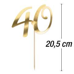 """Tortni topper """"40"""""""