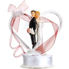 Poročni par v srčku s kristalčki