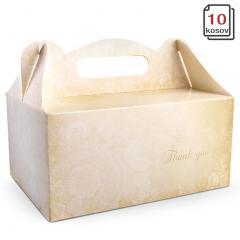Kartonska embalaža z ročko 19 x 14 x 9 cm, 10 kom