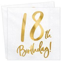 Servieti Happy Birthday, 18 let