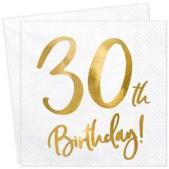 Servieti Happy Birthday, 30 let