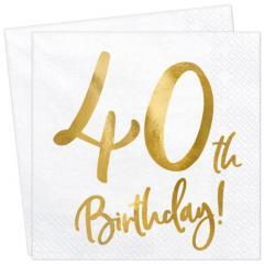 Servieti Happy Birthday, 40 let