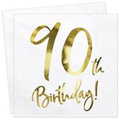Servieti Happy Birthday, 90 let