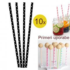 Palčke za Cake Pops ali slamce 10 kom št.15