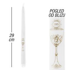 IHS svečke (4 kom), bele 29 cm