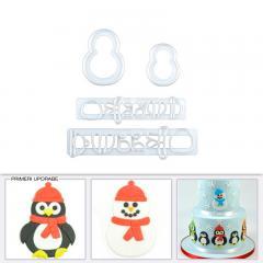 Modelčki za pingvine ali snežake - 4 delni