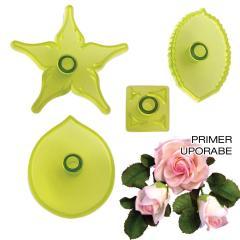 JEM modelčki za veliko vrtnico, 4 delni
