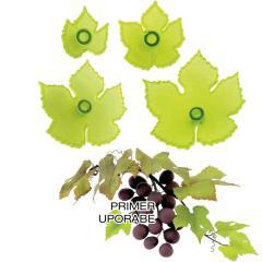 JEM modelčki za liste vinske trte, 4 delni