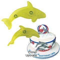 JEM modelčka kit in delfin, 2 delni