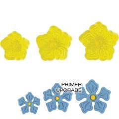 JEM modelčki čipkaste rožice, 3 delni