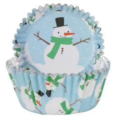 Folija papirčki za muffine Snežaki, 30 kom