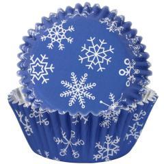 Folija papirčki za muffine Snežinke, 30 kom