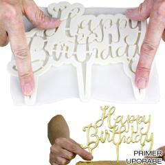 Izrezovalec za topper Happy Birthday (A)