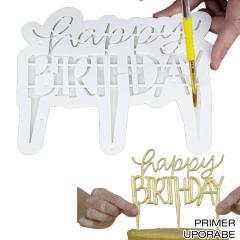 Izrezovalec za topper Happy Birthday (B)