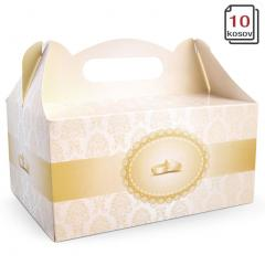 Kartonska embalaža PRSTANA z ročko 19 x 14 x 9 cm, 10 kom