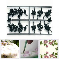 Patchwork modelček rože in listki