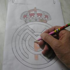 Okrasimo torto: Znak Real Madrid