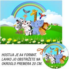Hostija Safari živali A4