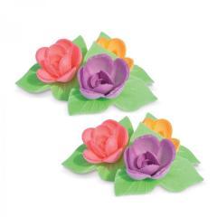 Mini vrtnice z listki iz hostije, 2,5 cm