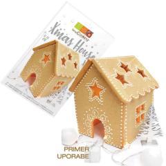 Plastične šablone za večjo piškotno božično hiško