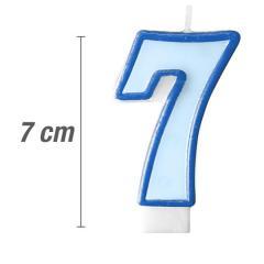 Svečka številka, Modra 7cm, št.7