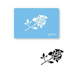 Šablona Vrtnica na steblu (JEM)