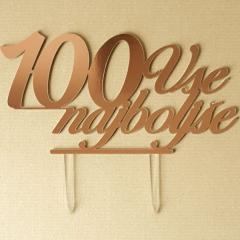 Topper za torto Vse najboljše 100