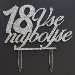 Topper za torto Vse najboljše 18
