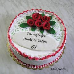 Najbolj enostaven napis na torti