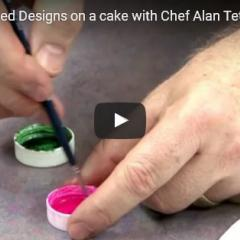 Uporaba štampiljk na torti
