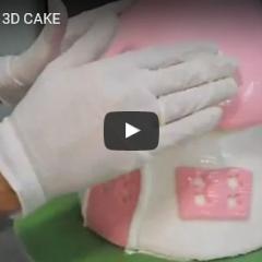 3D torta na vrtljivem podstavku