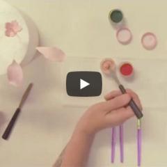 Kako barvamo dekoracije z barvami v pahu