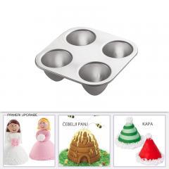 Wilton pekač za mini princesko, panj, smreko, kapo