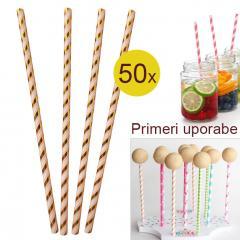 Palčke za Cake Pops ali slamce ZLATE 50 kom št.2