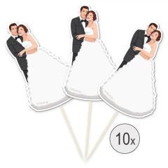Dekoracija poročni par, 10 kom