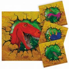 MINI Servieti Dinozavri, rjavi